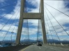 Cable-stayed bridge over The Tacoma Foss Waterway.